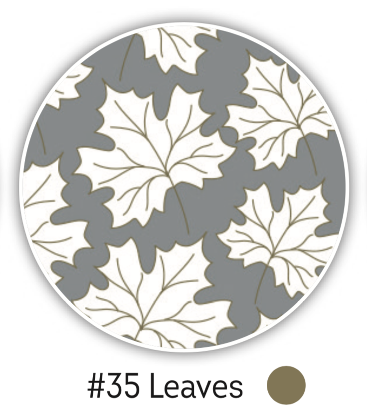 NAILCRUST Pattern Sliders Leaves #35