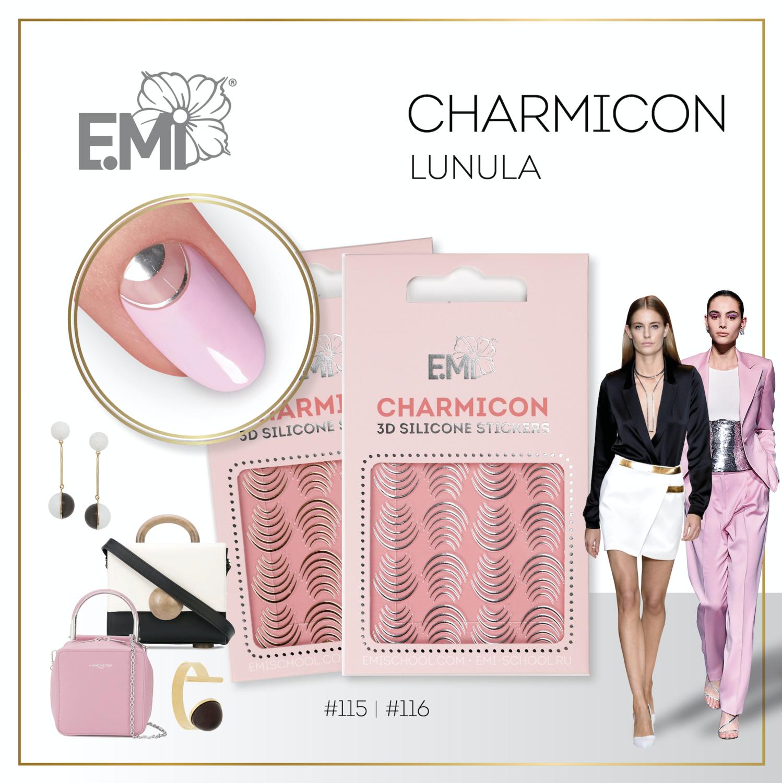 Charmicon Silicone Stickers #116 Lunula Silver