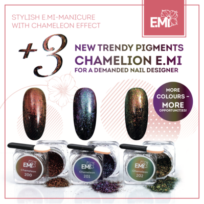 Set of 3 Pigments Chameleon #200-202, 1 g.