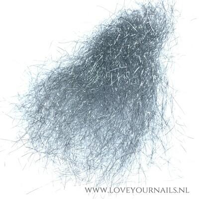 Zilver micro fiber glitter