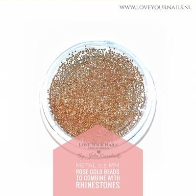 Rose Gold Caviar beads metal 0,5 mm