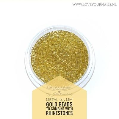 Gold Caviar beads metal 0,5 mm