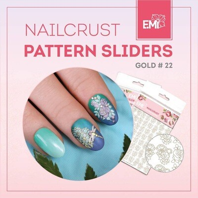 NAILCRUST Pattern Sliders Gold #22