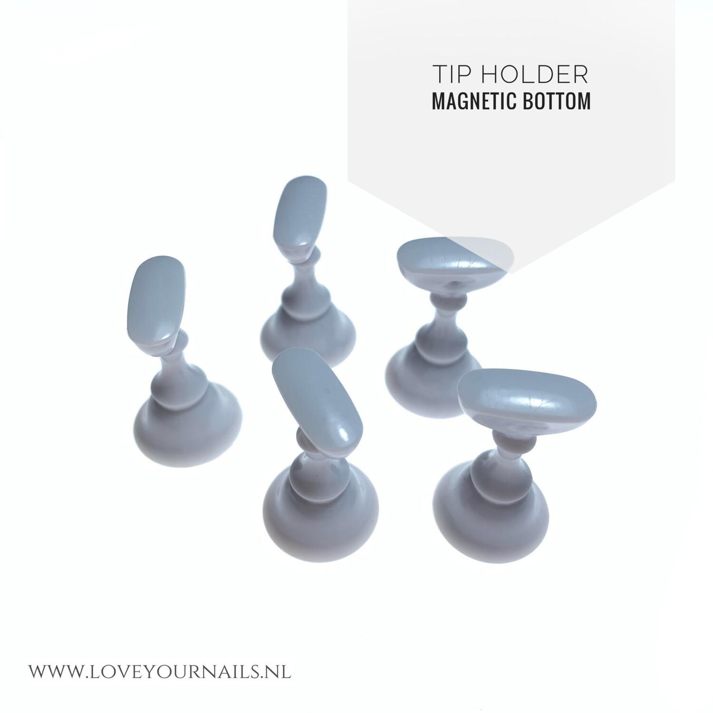5 magnetic nailart tip holders, white