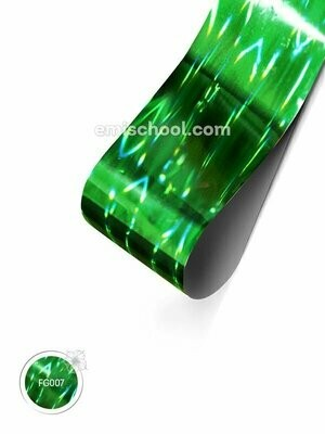 Foil holographic green Stereo effect, 1.5 m
