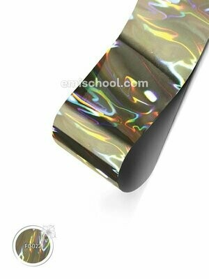 Foil holographic silver Flame, 1.5 m