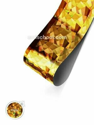 Foil holographic gold Crystals, 1.5 m
