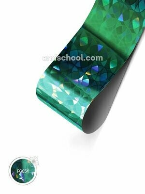 Foil holographic Turquoise _�ircles, 1.5 m