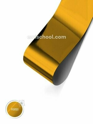 Foil glossy Yellow Copper, 1.5 m