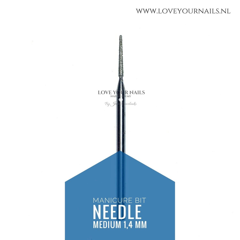 Diamond Needle bit - cuticle and side walls