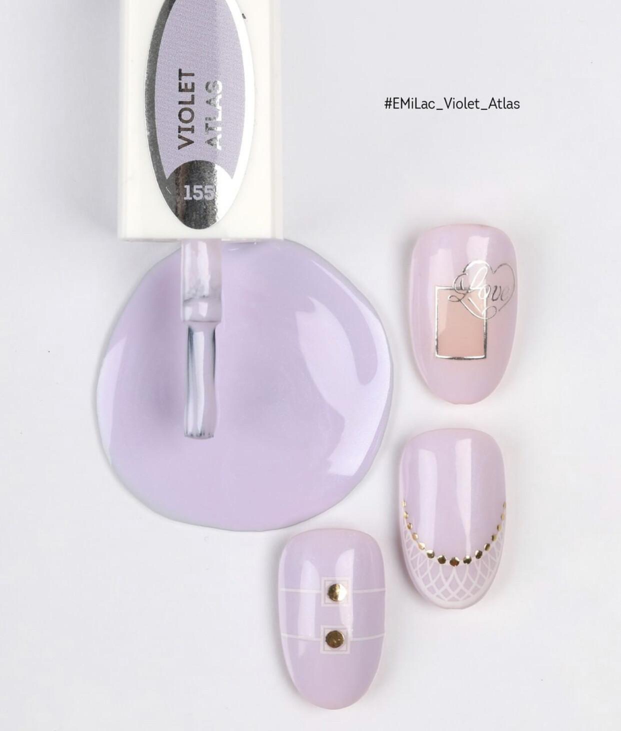 E.MiLac #155 Violet Atlas — mesmerizing violet shade with a delicate shine