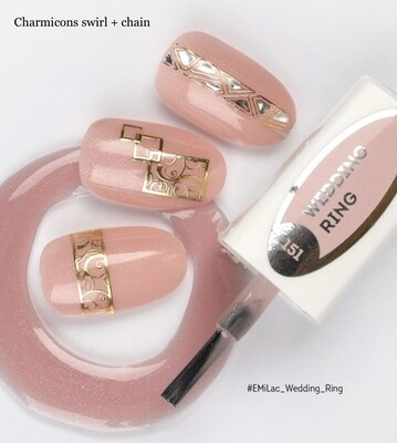 E.MiLac #151 Wedding Ring — romantic shimmering rose-colored shade