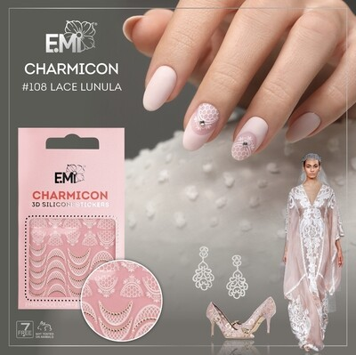 Charmicon Silicone Stickers #108 Lace Lunula