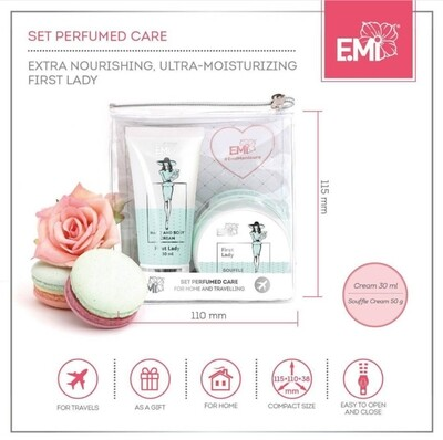 "Set ""Perfumed Care"". Extra-Nourishment and Ultra-Moisturizing First Lady"