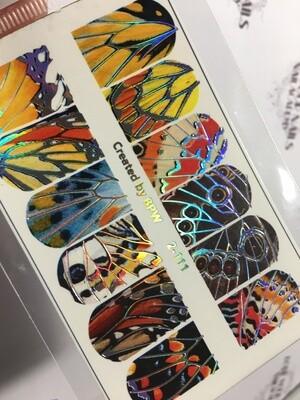 Vlinder vleugels 2-111