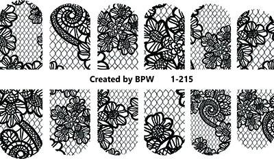 zwart net met bloemen 1-215