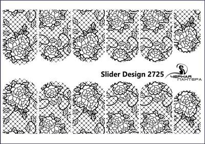 zwart net met rozen 2725