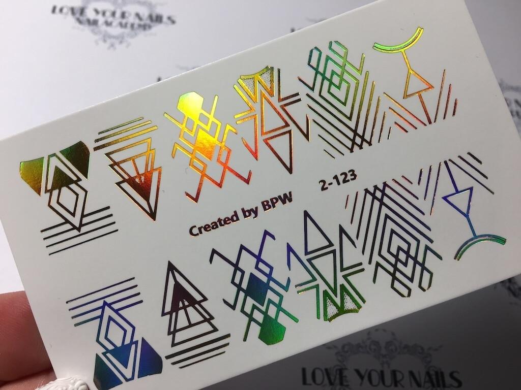 Geometrie1  2-123 goud holografisch