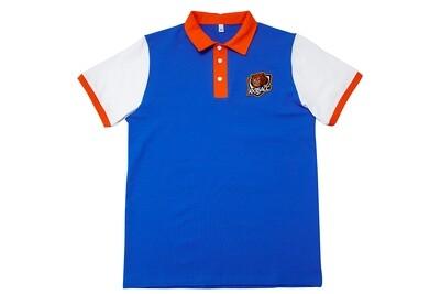 Рубашка поло с коротким рукавом (синее)
