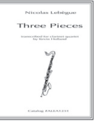 Lebegue: Three Pieces for Clarinet Quartet