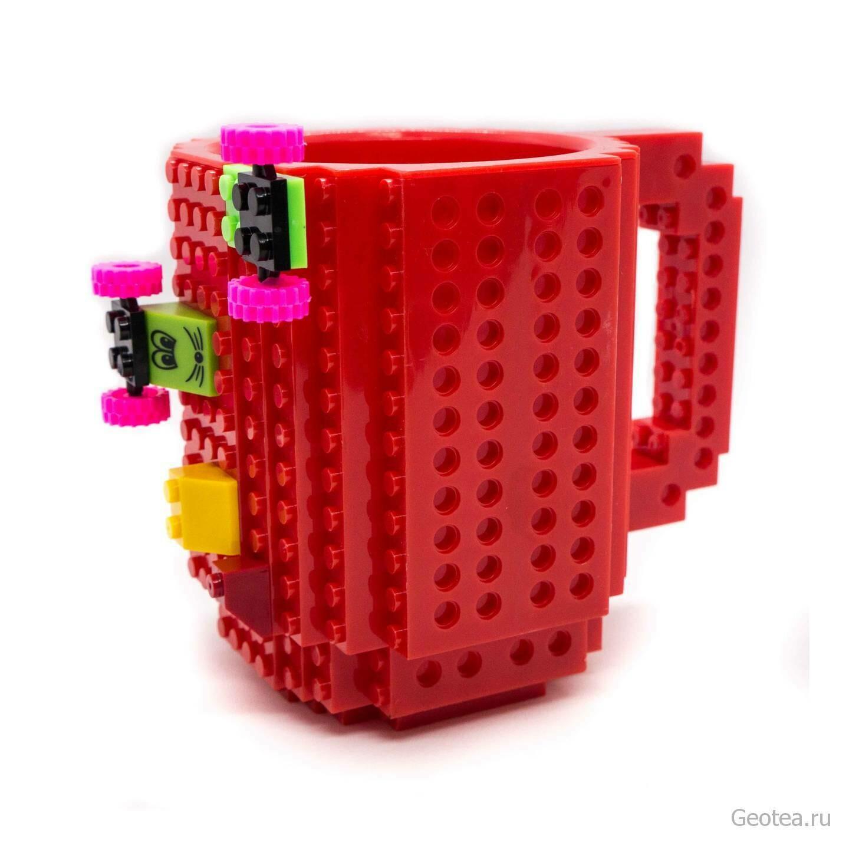 Кружка Лего 350 мл. красная с мини набором