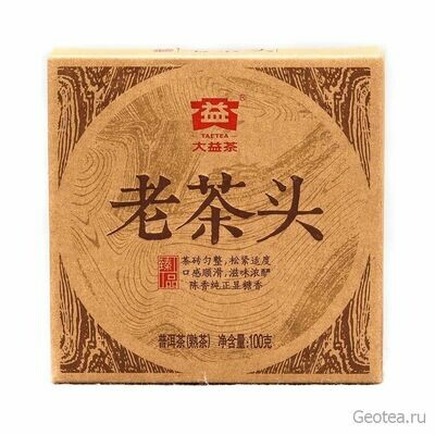 Чай Шу Пуэр Лао Ча Тоу Фанча 100гр.
