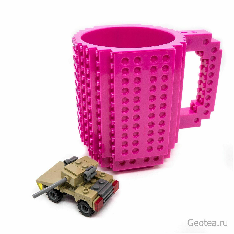 Кружка Лего 350 мл. фиолетовая с мини набором