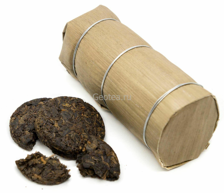 """Чай Шу Пуэр Минибин в бамбуке 250гр., """"Чжутун"""""""