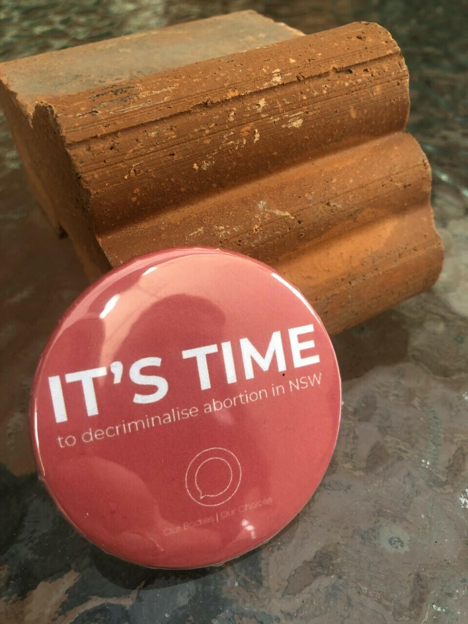 #itstime badge