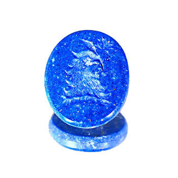 Lapis Lazuli Family Crest-Unset carved gemstone only