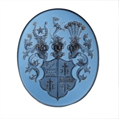 Layered Agate Coat of Arms-Unset Carved Gemstone