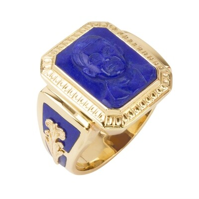 Lapis Lazuli Cameo Ring in 14kt Gold-Custom Made to Order