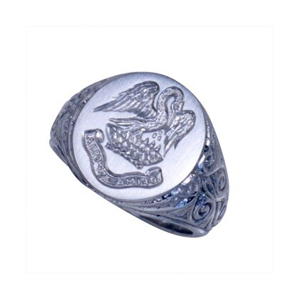 Family Crest Carving on Gold or Platinum Ring