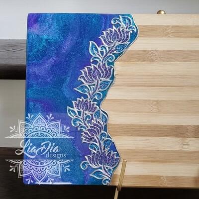 Lotus Vine Resin Cutting Board