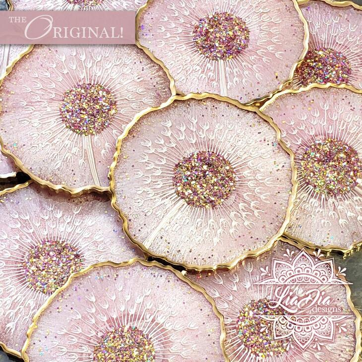Pink Lemonade Dandelion Coasters - Bulk Orders for Events