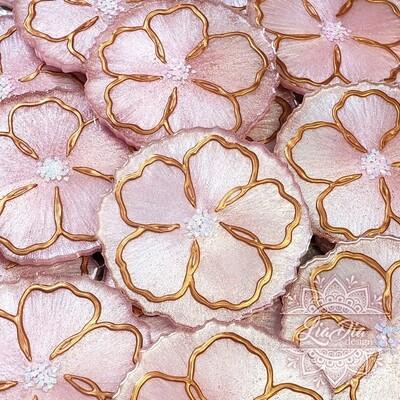 Blush Hibiscus Coasters - Set of 4