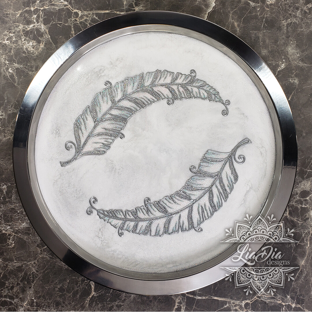 Floating Feathers Serving Tray