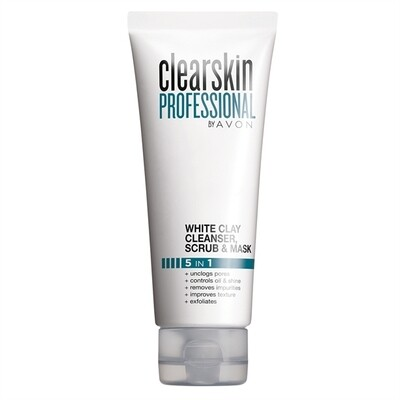 Clearskin Professional White Clay Cleanser, Scrub and Mask