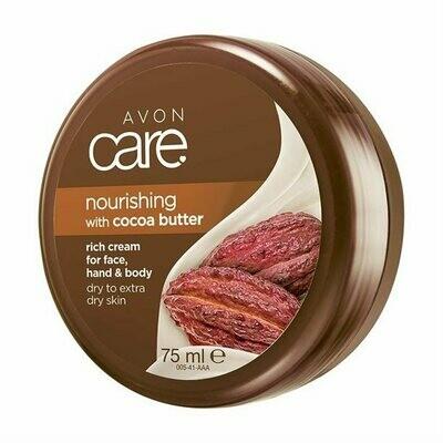 Avon Care Nourishing Cocoa Butter Rich Cream for Face, Hand & Body - 75ml