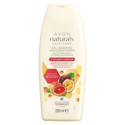 Grapefruit, Passion Fruit & Vitamin Complex 2-in-1 Shampoo & Conditioner - 250ml