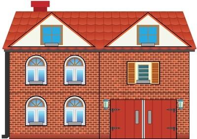 Пазл «Кирпичный дом», для детей от 2-х лет