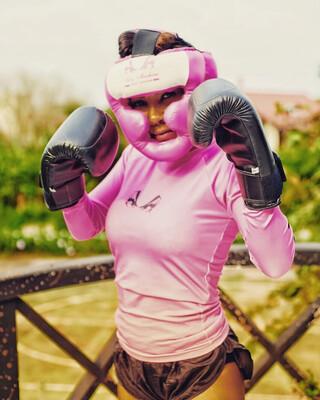 Capacete Protetor Rosa Sexy Machine
