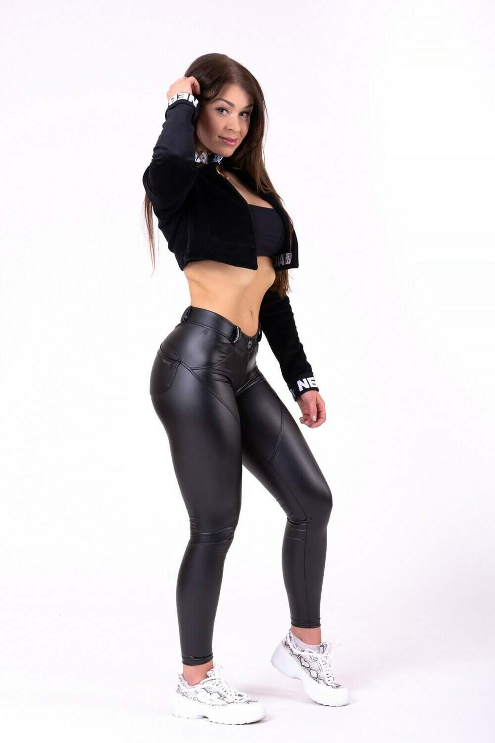"БРЮКИ NEBBIA BUBBLE BUTT PANTS ""CAT WOMAN"" 669 BLACK"