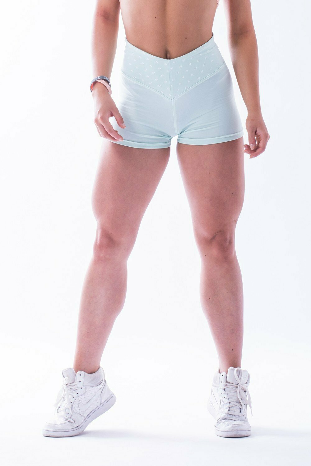 "Шорты High waist ""Ns"" shorts 648 MINT"