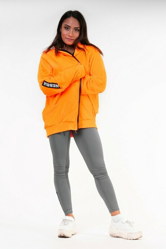 КОФТА NEBBIA NEON ENERGY OVERSIZED HOODIE 682 ORANGE