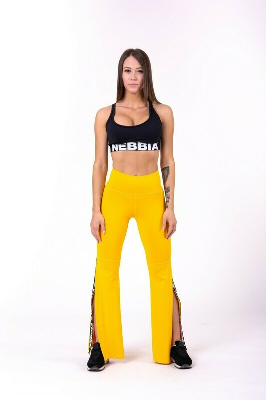 ЛОСИНЫ NEBBIA 70'S FANCY FLARED PANTS 667 YELLOW