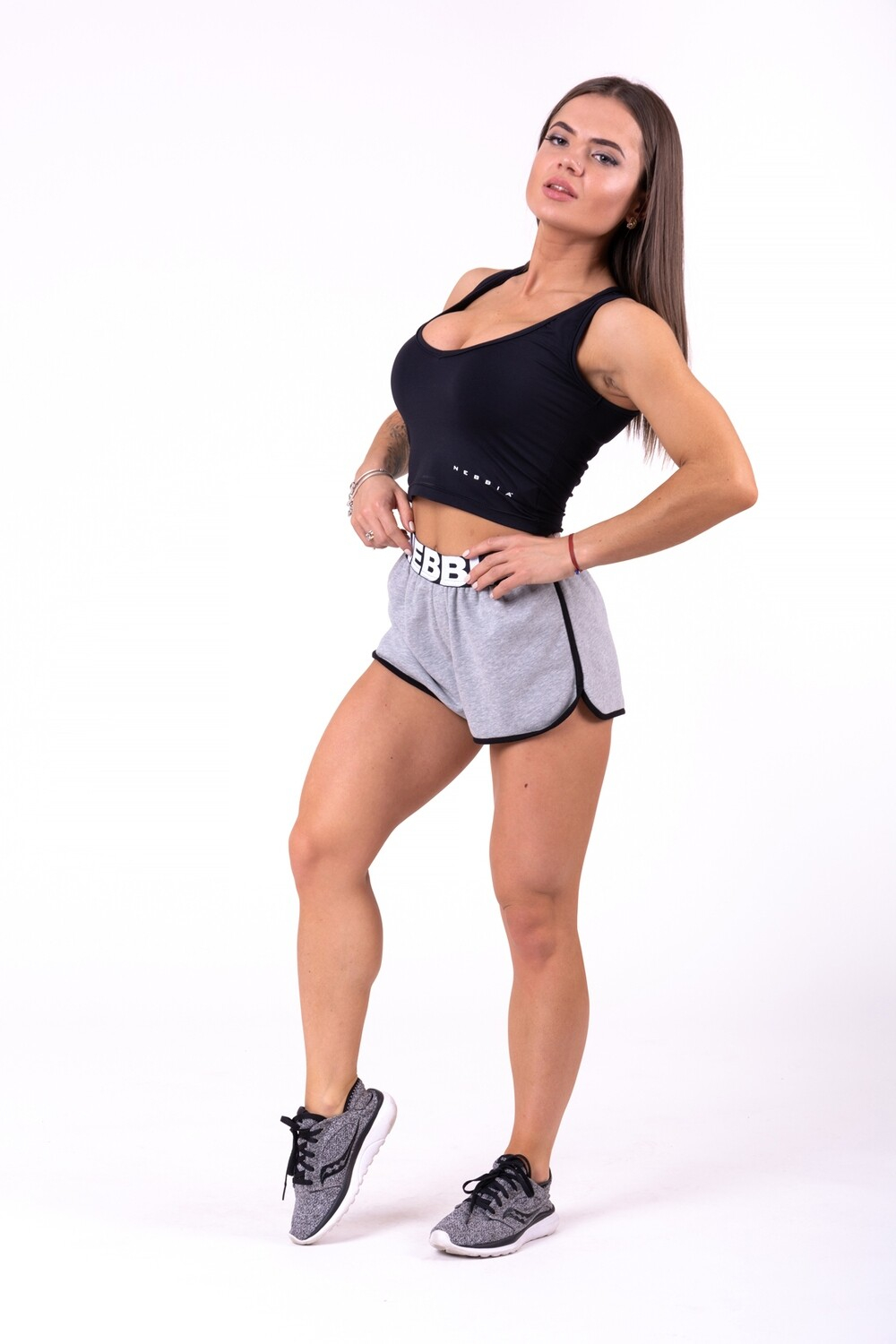 ШОРТЫ NEBBIA BEACH SHORTS 697 GREY