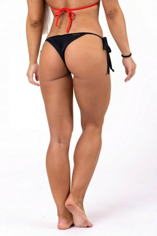 Плавки Scrunch butt tie side bikini 673 Черные