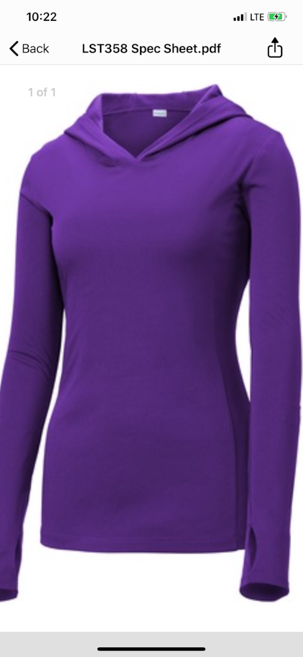 Woman's lightweight Hooded Pullover