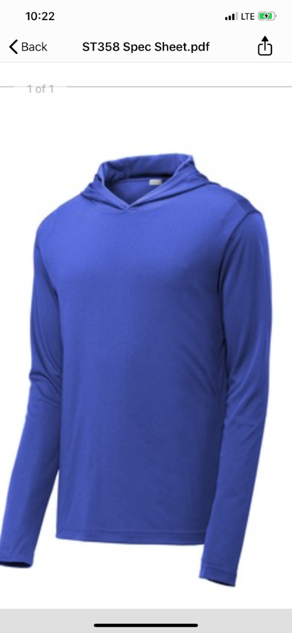 Men's Light Weight Hooded Pullover
